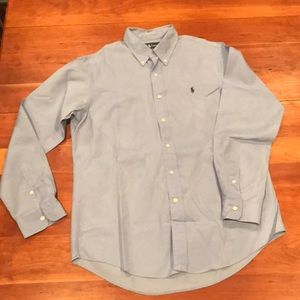 Ralph Lauren Men's Long Sleeve Light Blue Shirt